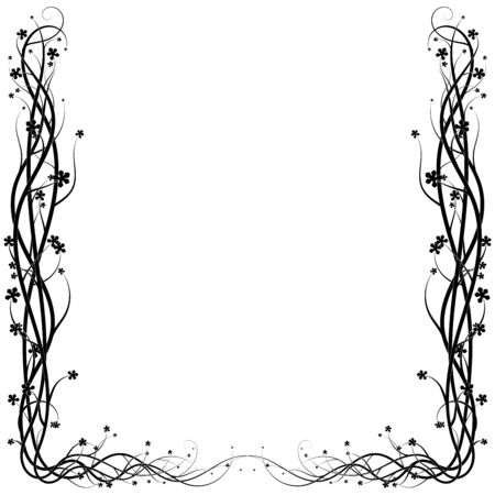 ivy frame from a wild plant on a white background. vector