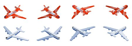 isometric aircraft for airport terminal selection. vector