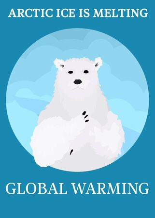 global warming. ice is melting in the Arctic, animals are suffering