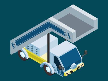car aircraft loading ladder. vector stock illustration 向量圖像