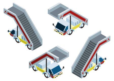 isometric truck gangway. new vector stock illustration