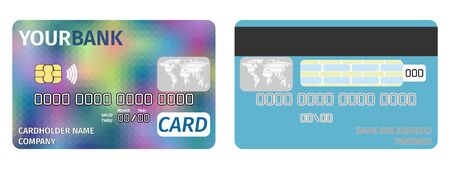 credit card banking bright flat style. vector stock image