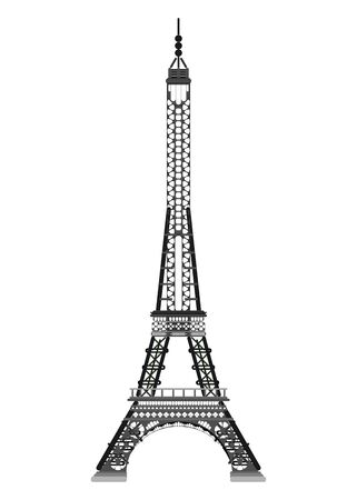 paris eiffel tower simple drawing. flat style stock illustration Vektorgrafik