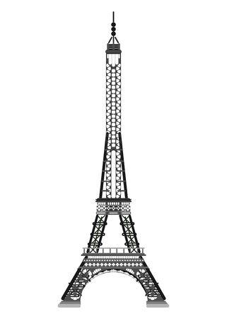 Paris Eiffelturm einfache Zeichnung. flacher stil stockillustration Vektorgrafik
