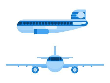 international airliner passenger plane. flat style. flat style vector