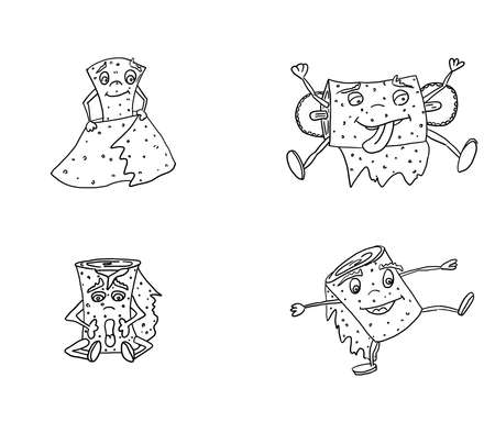 monsters dressing for children's coloring. doodle style new version vector 向量圖像