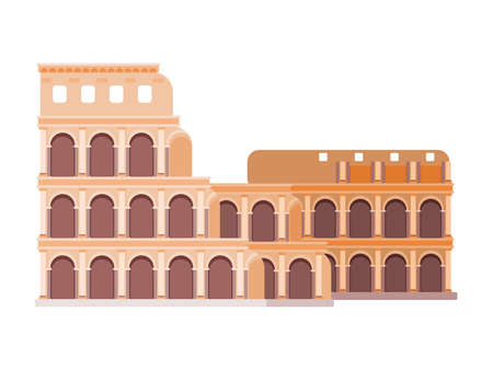 Rome building colosseum in flat style new version vector