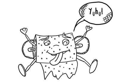 funny animal monster toilet paper. doodle style new version