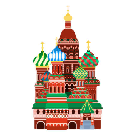 Moscow Cathedral on Red Square. flat style vector illustration 向量圖像