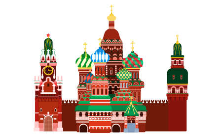 Red Square Moscow. Russia vector illustration flat style 向量圖像