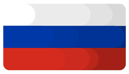 simple flag of the russian federation. flat style background stock