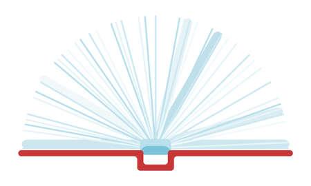open book with white sheets. illustration flat style vector stock image Vektoros illusztráció