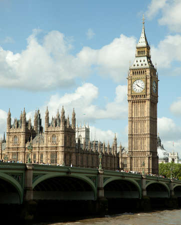 house of Parliament with Big Ban tower in London UK  photo