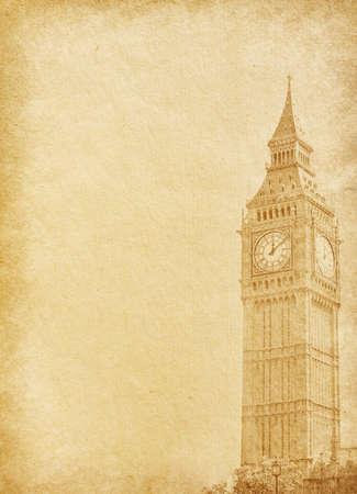 vintage  paper   Big Ban, London photo