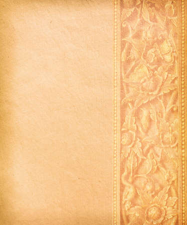 Old worn paper with decorative ornament Stock Photo - 12919631