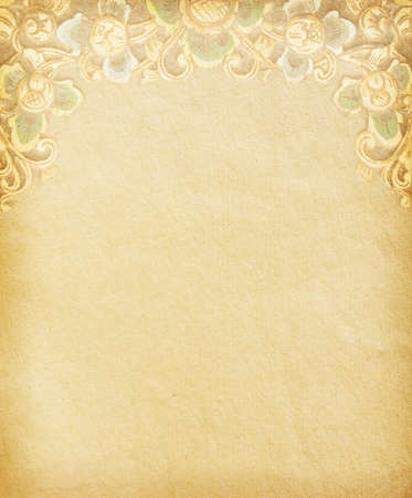 Old worn paper with decorative ornament Stock Photo - 13004753