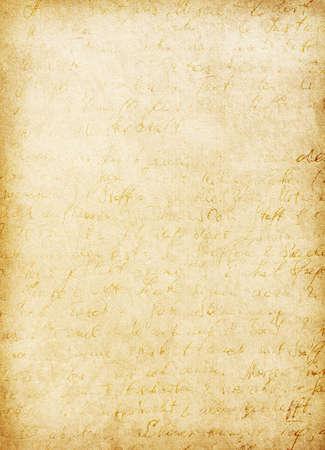 worn paper: Escritura alemana en el papel viejo sucio. Antiguo papel usado Foto de archivo