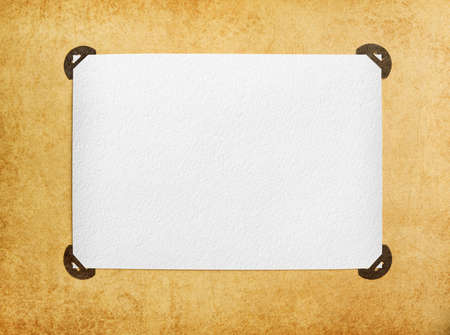 photoalbum: vintage blank page from photoalbum Stock Photo