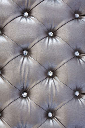 silver  upholstery pattern with crystal Stock Photo - 14493735