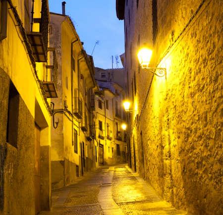 cuenca: Empty alleyways in Cuenca  Spain   Stock Photo
