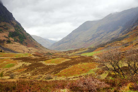 Glencoe. Overcast Day.May.  Scotlands Highland. UK photo