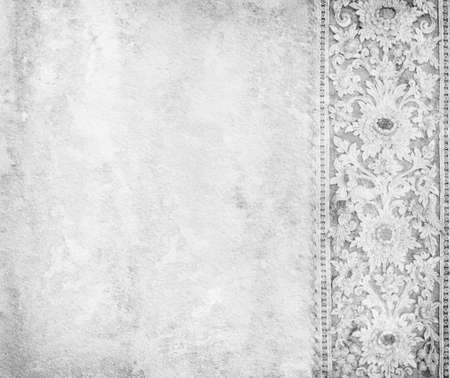 Old grey paper with oriental ornament.  photo