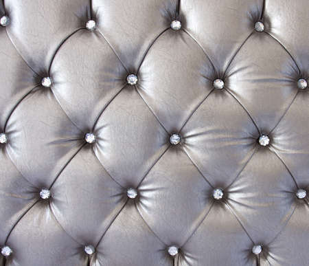 luxury silver texture of leather furniture decorated with crystal Stock Photo - 14983855