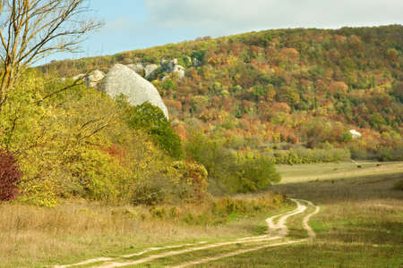a landscape of The Crimean Mountains Stock Photo
