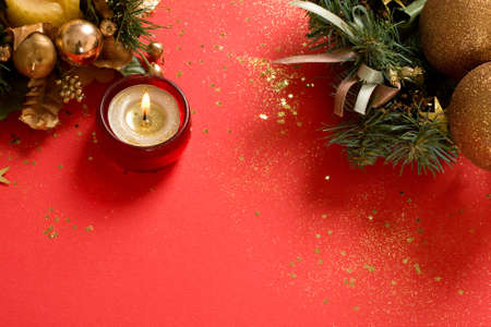 christmas decorations  background with space for text or image