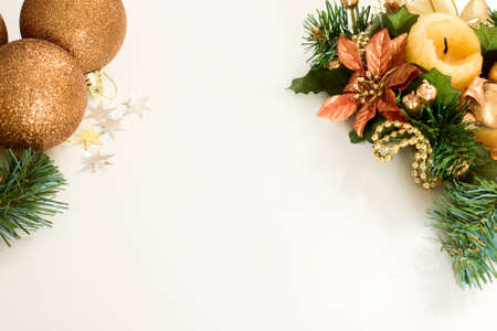christmas decorations  background with space for text or image   photo