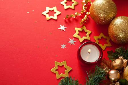 karácsonyi díszek háttér helyet a szöveg vagy kép