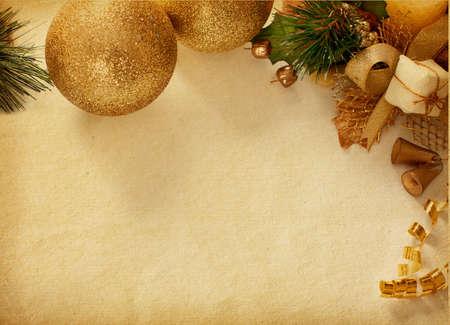 campanas de navidad: a�ada texturas de papel Decoraci�n de Navidad de papel viejo desgastado