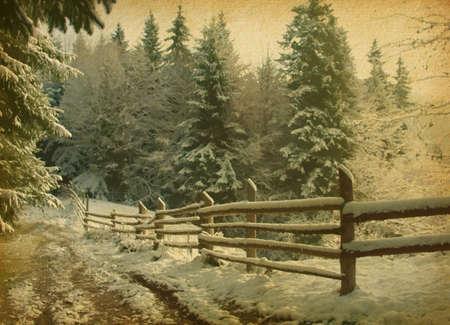 vintage  paper textures   Old worn paper  Winter wood Imagens