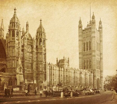 vintage papír textúrák Houses of Parliament Londonban UK kilátás Abingdon utcára Sajtókép