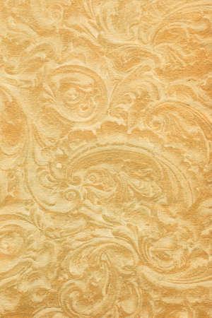 worn paper: Papel viejo con el ornamento floral usado