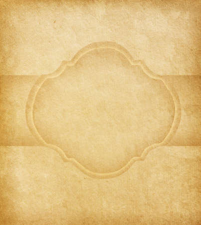 Old paper with  space for text in the shape of parchment  Stock Photo - 15808940