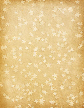 vintage paper decorated with  stars Stock Photo - 15776420