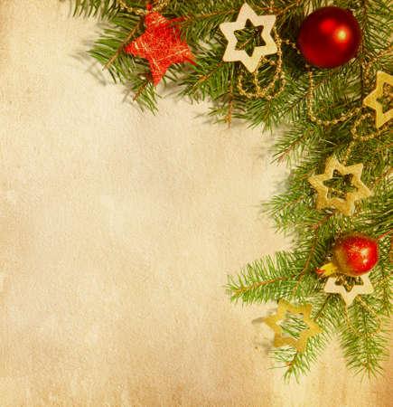weihnachten tanne: Christmas border Altpapier