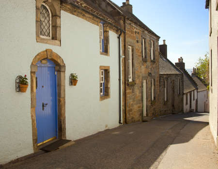 A street in Culross  Scotland, UK photo