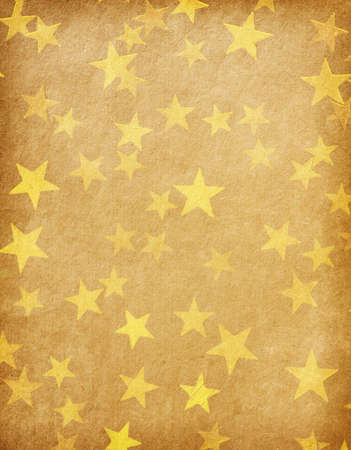 vintage paper decorated with  gold stars Stock Photo - 15939918