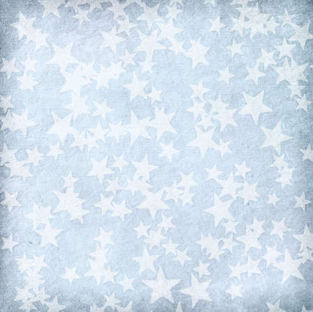 blue spotted: vintage paper with stars