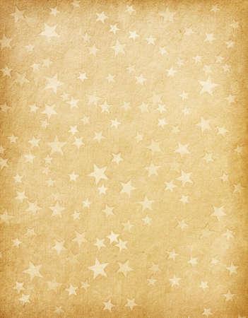 vintage papír díszített csillagok