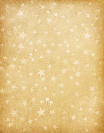 star background: vintage paper decorated with  stars