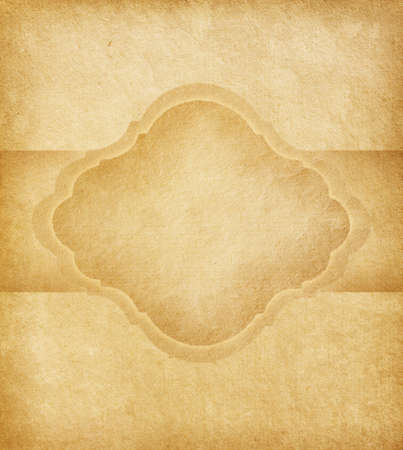 Old paper with  space for text in the shape of parchment Stock Photo - 17783808