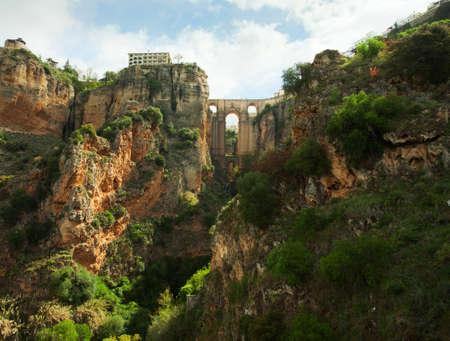 nuevo: Puente Nuevo in El Tajo gorge, Ronda     Ronda  is a city in the Spanish province of Málaga  Stock Photo