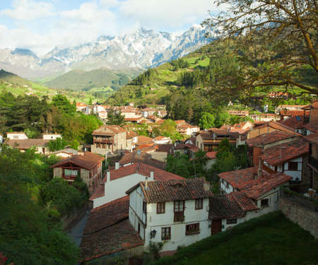picos: spring morning in Potes, Spain