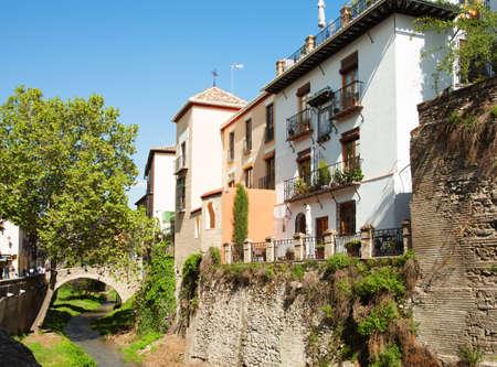 Granada   Andalusia, Spain  Carrera del Darro in Granada - One of the Oldest Streets   photo