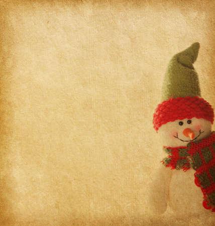 régi papír boldog hóembert