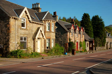 typically scottish: Spring evening in Strathyre, Scotland, UK   Strathyre  is a district and settlement in the Stirling local government district of Scotland