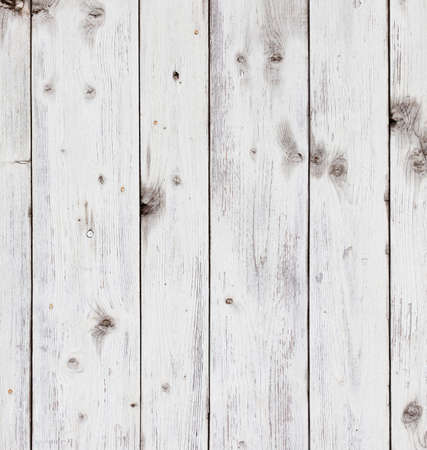 Old wooden board painted white